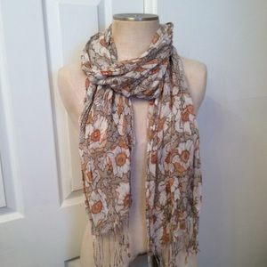 Accessories - floral scarf.
